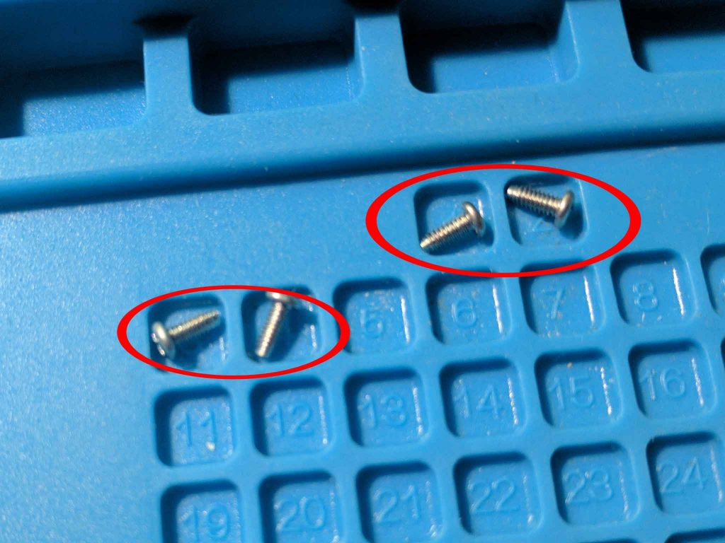 Bottom metal plate screws