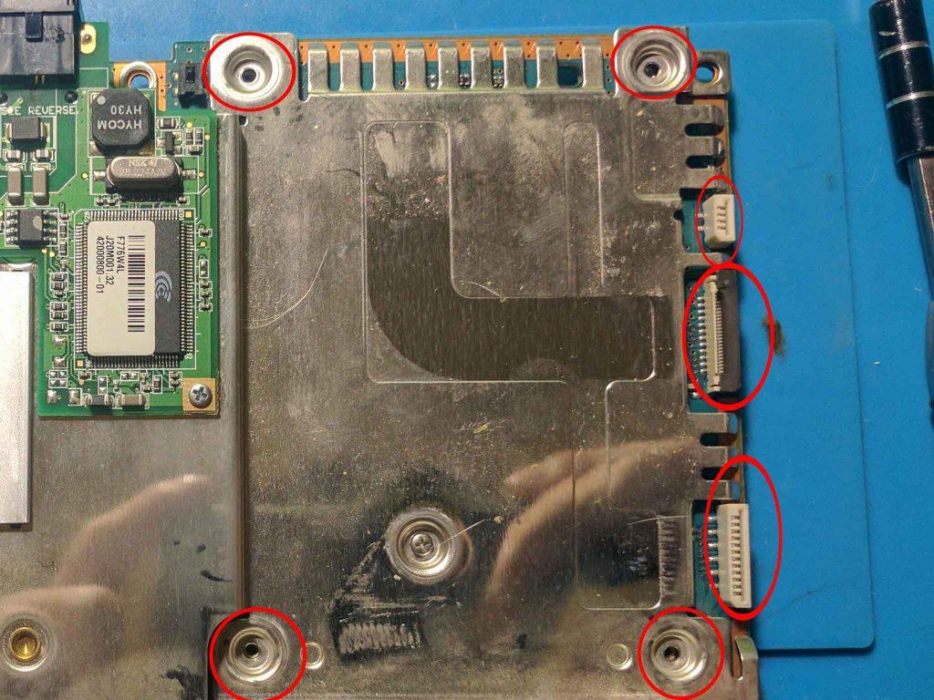Removed disc drive assembly