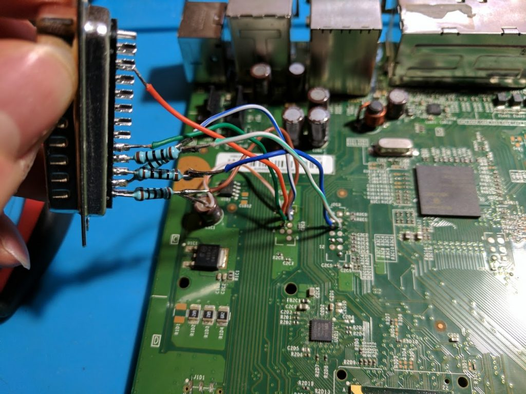 Xbox 360 LPT port NAND read
