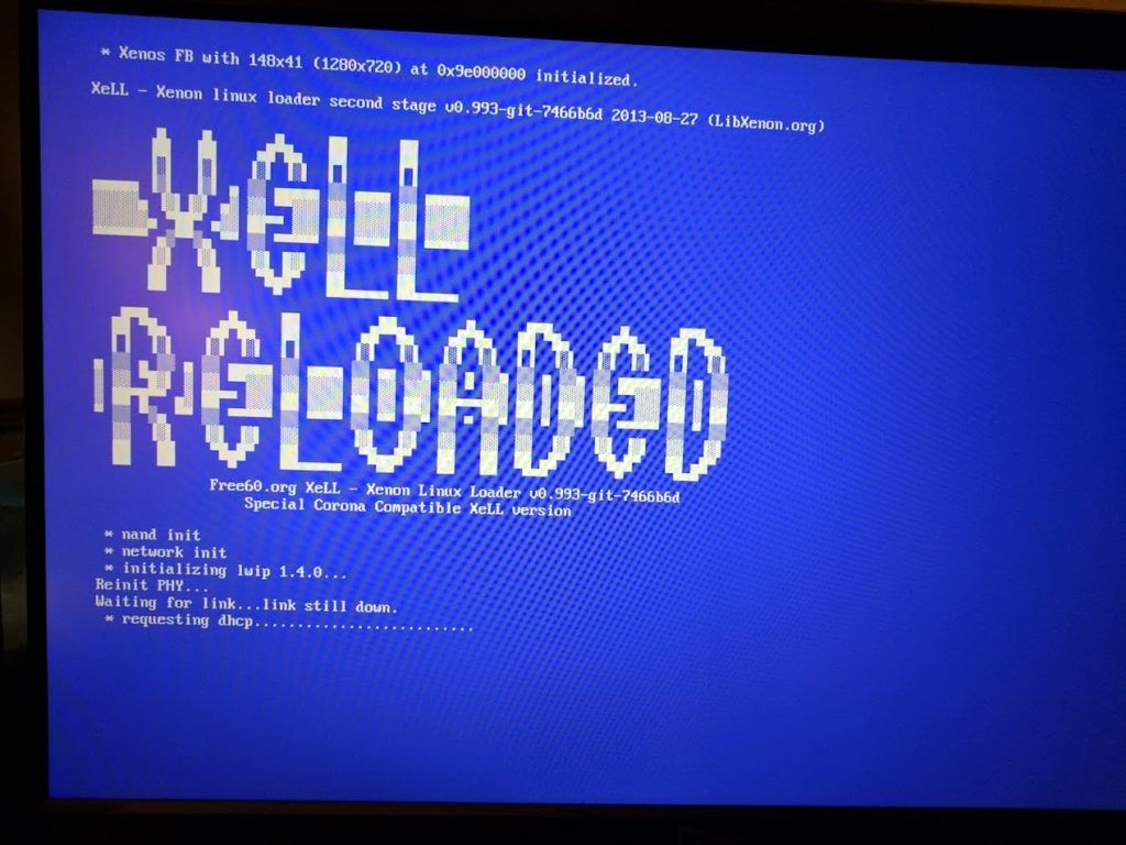 XeLL reloaded boot screen