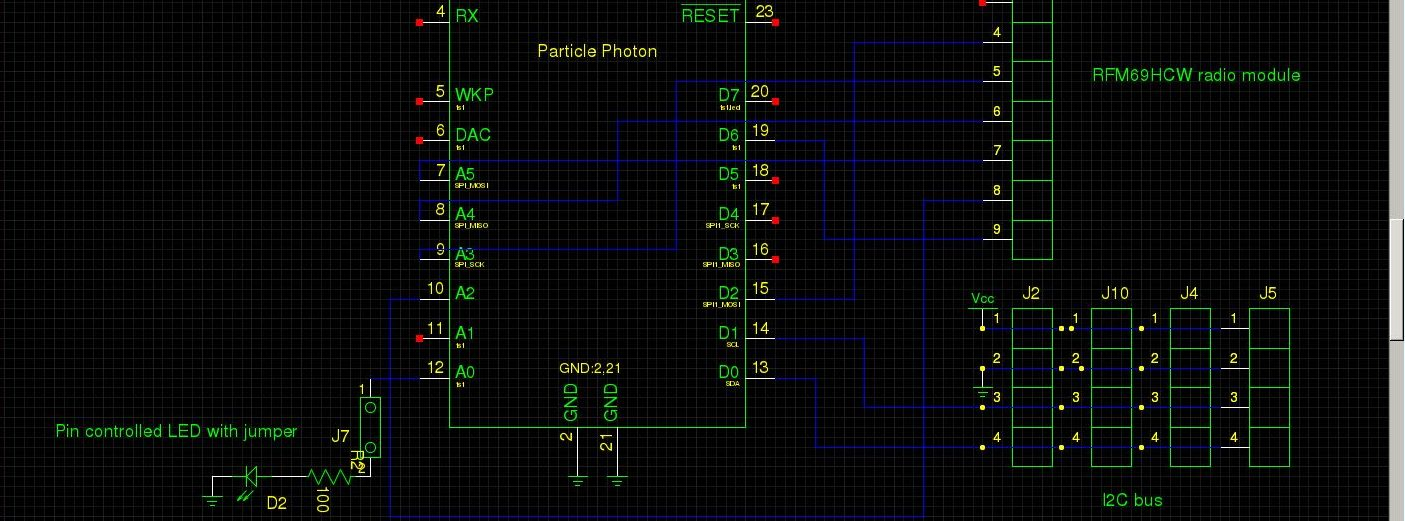 Particle Photon RFM69HCW schematic