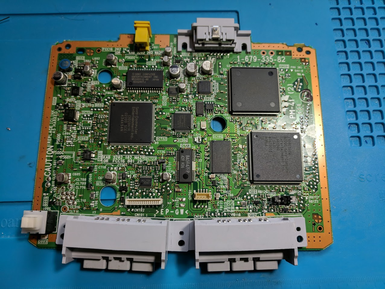 PM-41 (2) PSone MM3 modchip installation (PIC12F629