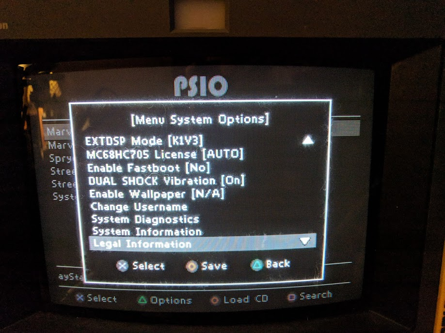 PSIO configuration options