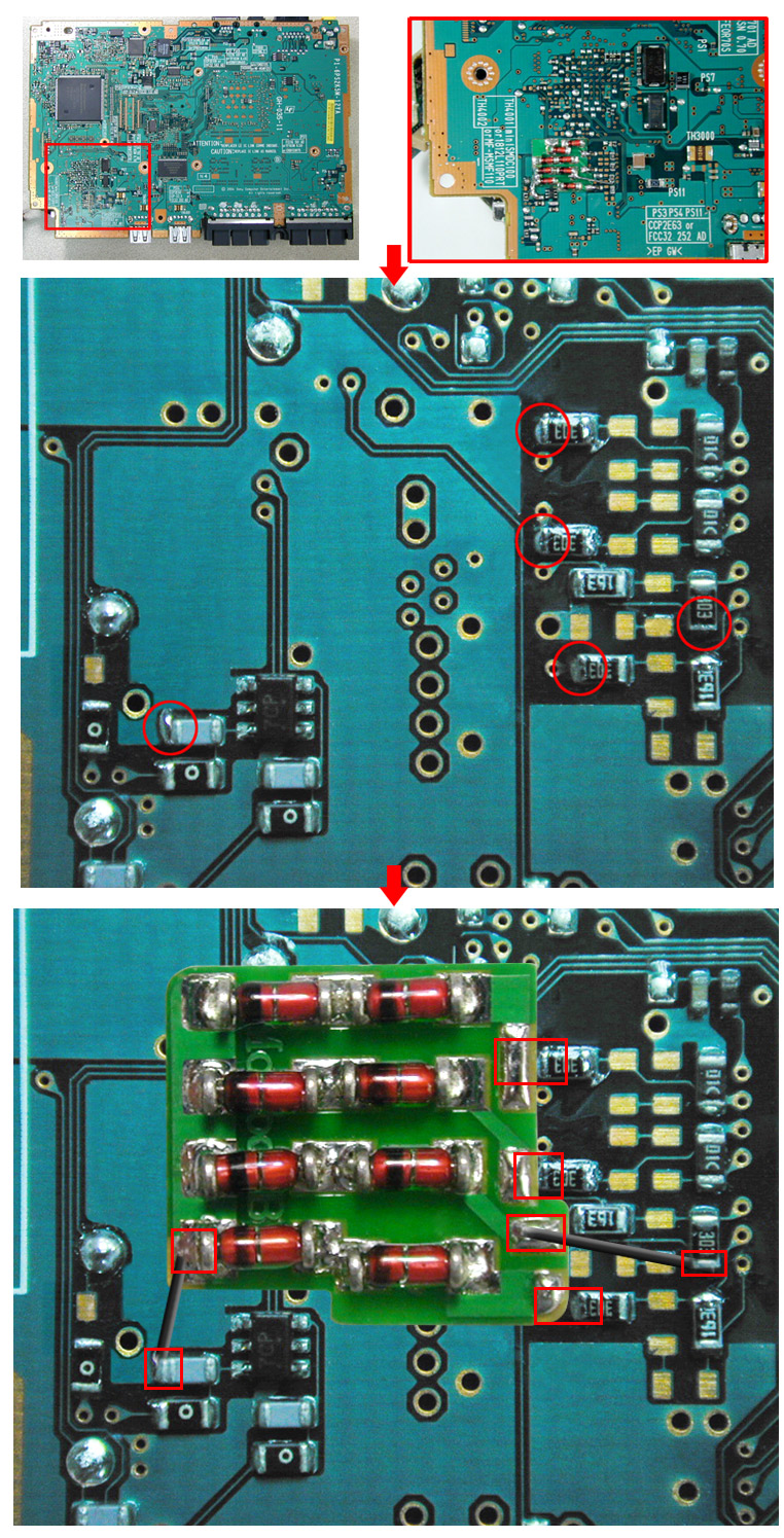 V12 Modbo modchip installation diagram - William Quade
