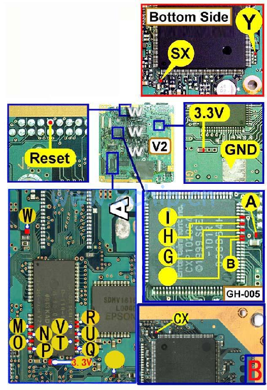 V2 Modbo modchip installation diagram