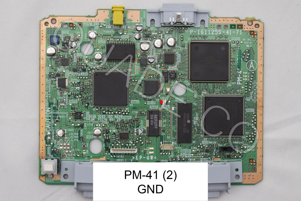 PM-41 (2) GND point in red